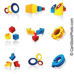 современное, дизайн, elements