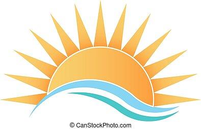 солнечный свет, waves