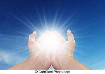 солнце, ваш, руки