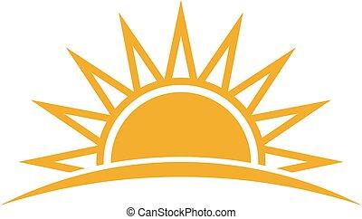 солнце, вектор, logo., иллюстрация