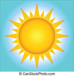 солнце, горячий, задний план