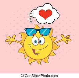 солнце, люблю, сердце