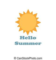 солнце, summer., здравствуйте, значок