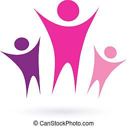 сообщество, /, женщины, значок, группа