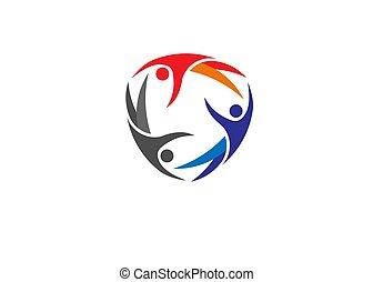 сообщество, здоровье, поместиться, логотип