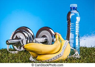 состав, красочный, фитнес