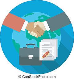 сотрудничество, международный, бизнес