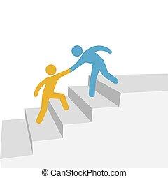 сотрудничество, прогресс, друг, помогите