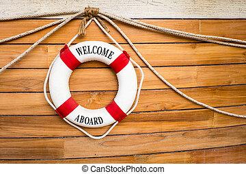 спасательный круг, лодка