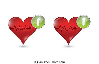 спасательный трос, hearts, дизайн, иллюстрация
