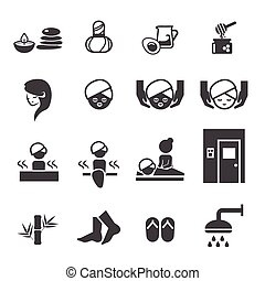 спа, задавать, icons