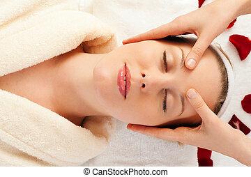 спа, массаж, лицо