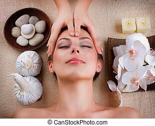 спа, салон, лицевой, массаж
