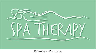 спа, терапия, шаблон