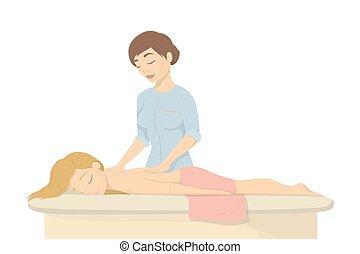 спа, salon., массаж