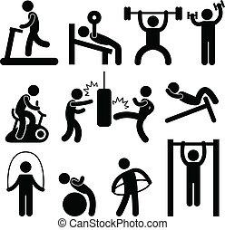 спортивное, гимнастический зал, гимнастический зал, упражнение