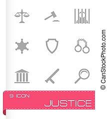 справедливость, вектор, задавать, icons