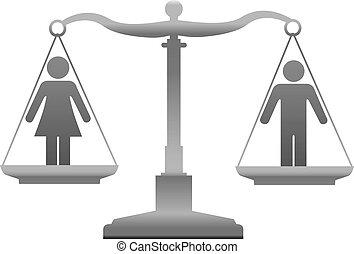 справедливость, равенство, секс, scales, пол