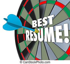 справка, продолжить, навыки, опыт, дротик, ударять, доска, educa, лучший