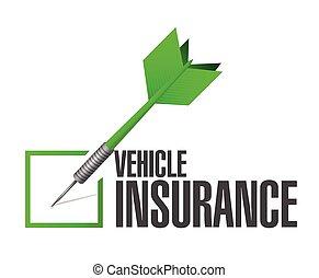 средство передвижения, страхование, дротик, отметка, проверить