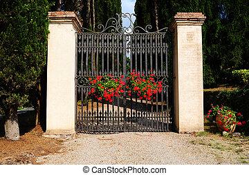 стали, ворота