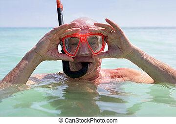 старшая, подводное плавание, человек