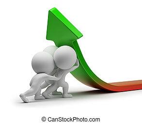 статистика, люди, -, улучшение, маленький, 3d