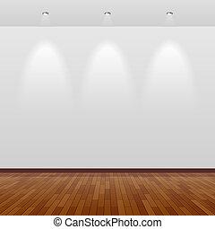 стена, белый, дерево, комната, пустой