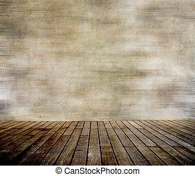 стена, paneled, дерево, гранж, пол