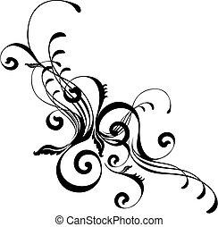 стильный, абстрактные, орнамент