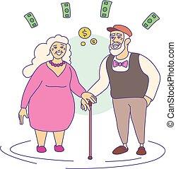 стиль, выход на пенсию, мультфильм, квартира, возмещение, значок