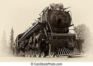стиль, стим, марочный, поезд, фото