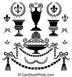 стиль, elements, дизайн, классический