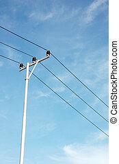 столб, электричество