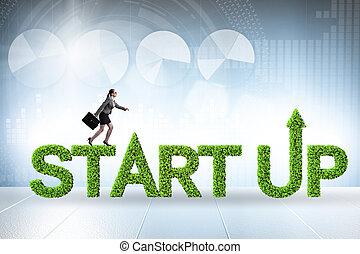 столица, start-up, предприятие, концепция, зеленый