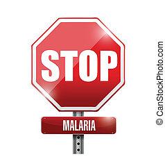 стоп, дизайн, малярия, иллюстрация, знак