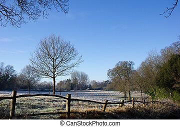 страна, зима, место действия