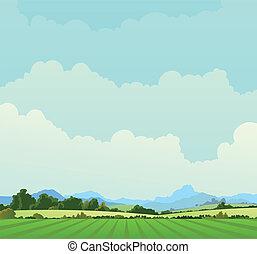 страна, пейзаж, задний план