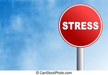 стресс, знак