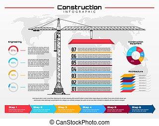 строительство, кран, infographics, здание