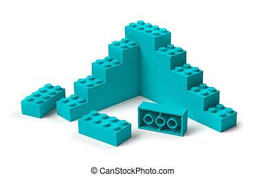 строительство, начало, 3d, blocks, здание, игрушка