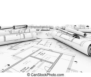 строительство, план