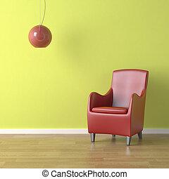 стул, зеленый, красный