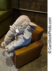 стул, stuffed, животное, слон