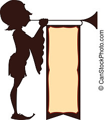 суд, иллюстрация, трубач