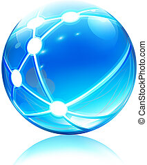 сфера, сеть, значок