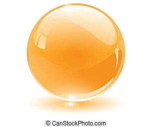 сфера, 3d, кристалл, стакан