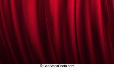 сцена, красный, занавес, theatre, задний план