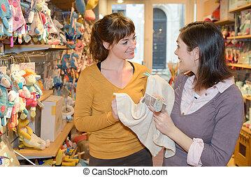 счастливый, игрушка, поход по магазинам, магазин, mothers