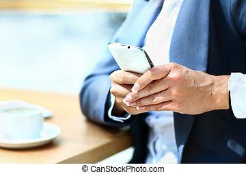 таблетка, кружка, мобильный, чай, современное, компьютер, рабочее место, телефон, цифровой